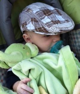 His favorite green elephant