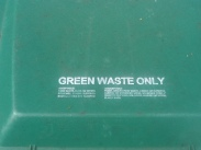 Greens only - trash can