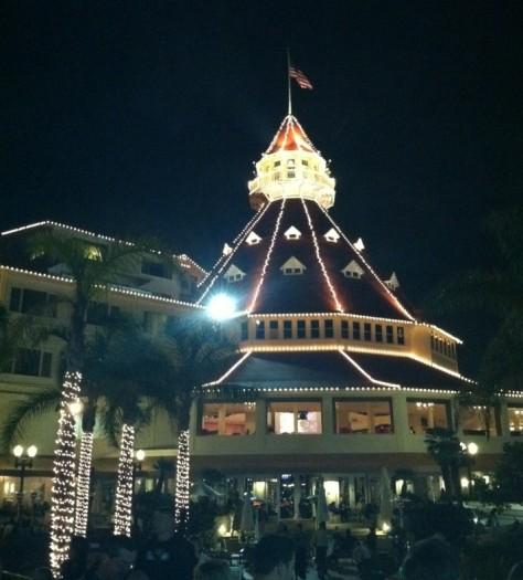Hotel Del at Christmas