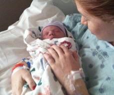 A delicate newborn baby