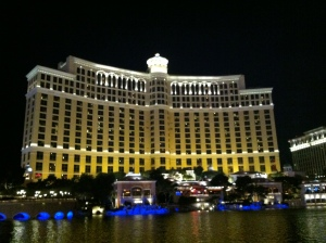 The Bellagio at night