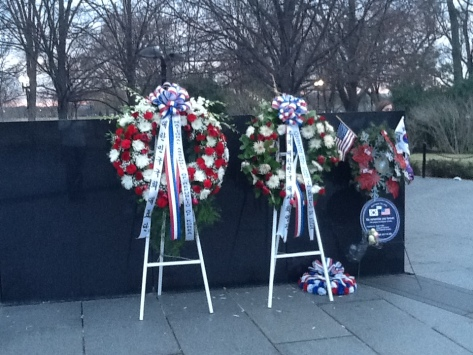 wreath at the wall