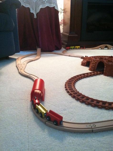 train track - portrait