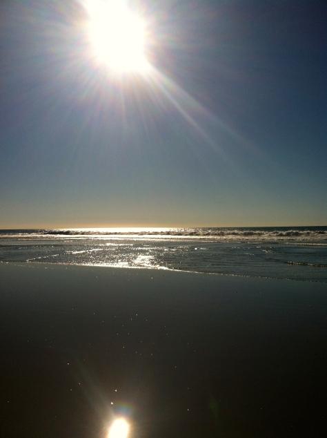 sun on the ocean