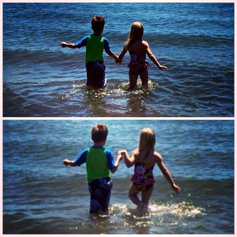 A & A at the beach