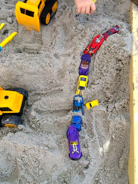 cars in the sandbox