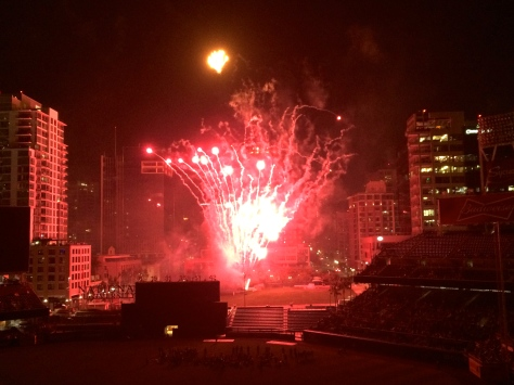 Fireworks at Petco Park